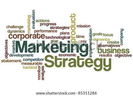 Marketing Strategy Word Cloud - stock vector