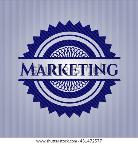 Marketing with jean texture