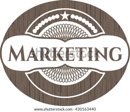 Marketing wood emblem. Retro