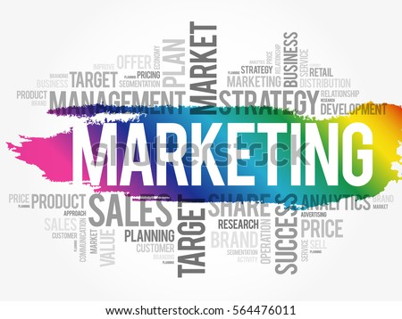marketing word cloud collage