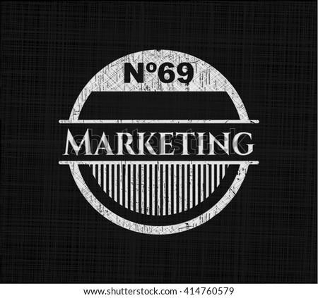 Marketing written with chalkboard texture