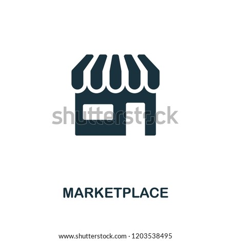 Marketplace icon. Premium style design from crowdfunding collection. UX and UI. Pixel perfect marketplace icon. For web design, apps, software, printing usage.