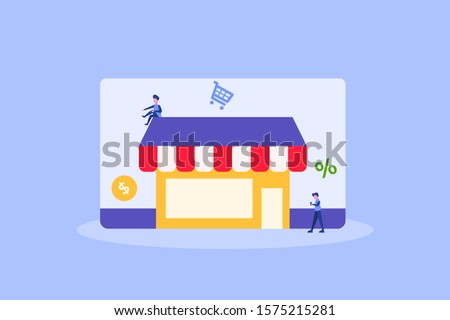 Marketplace. online store illustration concept for web landing page template, banner, flyer and presentation