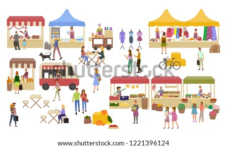 marketplace  stalls of sellers