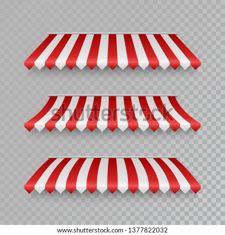 Set Of Striped Awnings Vector Stock Photo 347195357