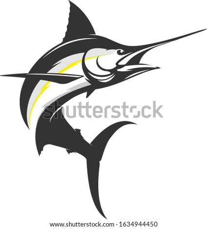 Marlin Logo. a Unique & Modern Marlin jumping out of the water.  Foto stock ©