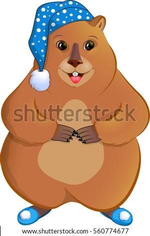 marmot in the nightcapisolated