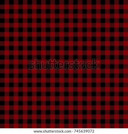 Maroon Lumberjack Buffalo Plaid Seamless Pattern