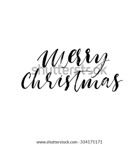 marry christmas hand lettering