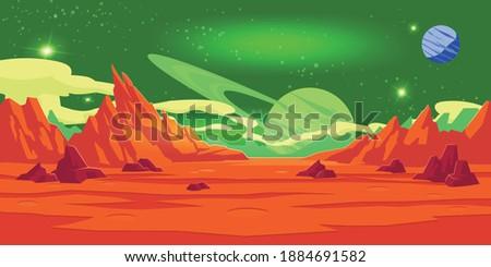 mars landscape vector  alien