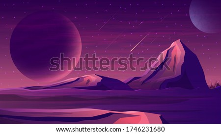 mars purple space landscape