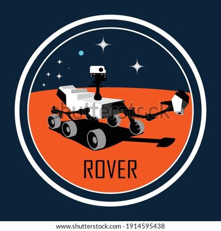 Mars rover robot 3D illustration logo Foto d'archivio ©
