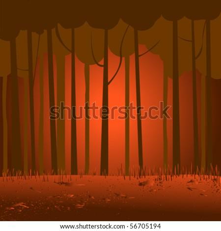 marsh landscape  vector