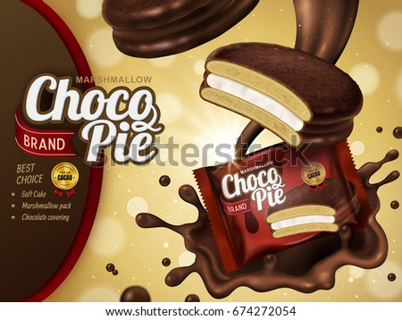 marshmallow chocolate pie ad