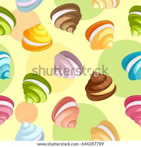 marshmallow seamless pattern