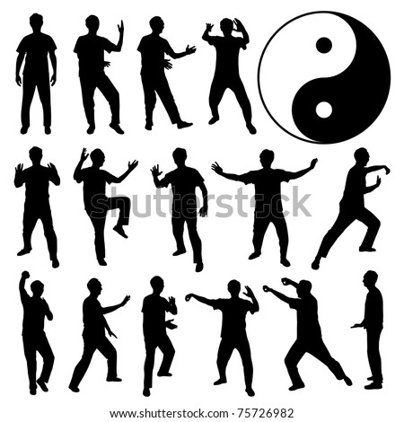 Martial Art Kung Fu Tai Chi Self Defense Exercise Fight Master People Man