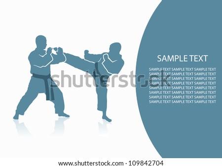 Martial arts background - vector illustration