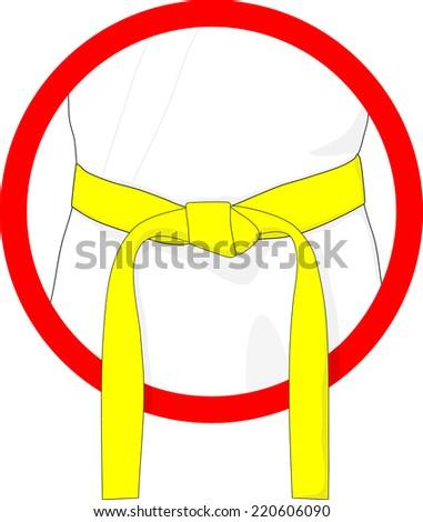 martial arts belt yellow
