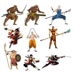 martial arts strong warriors