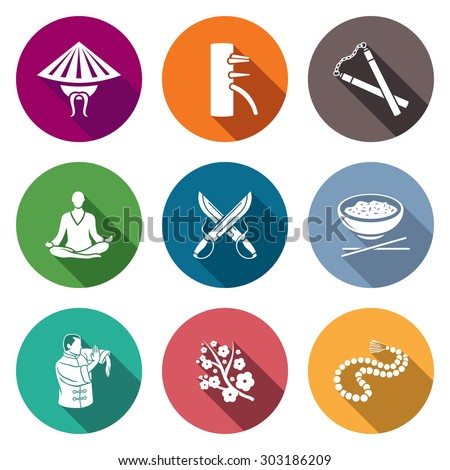 martial arts  wing chun icons