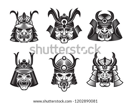 martial masks warrior japanese