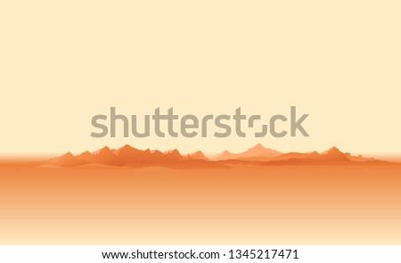 martian orange surface panorama