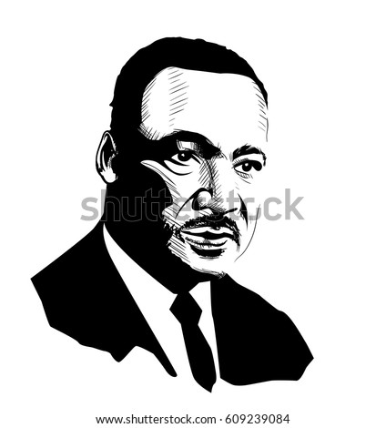 martin luther king black and