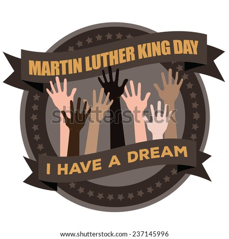 Martin Luther King Day Badge Icon EPS 10 vector stock illustration