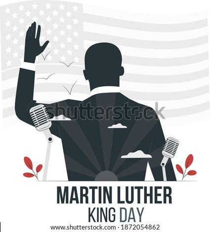 Martin Luther King Day illustration vector