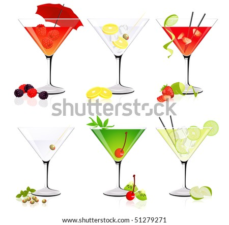 martini glass collection