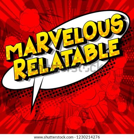 marvelous relatable   vector