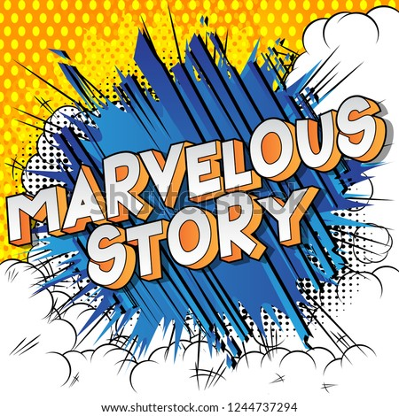 marvelous story   vector