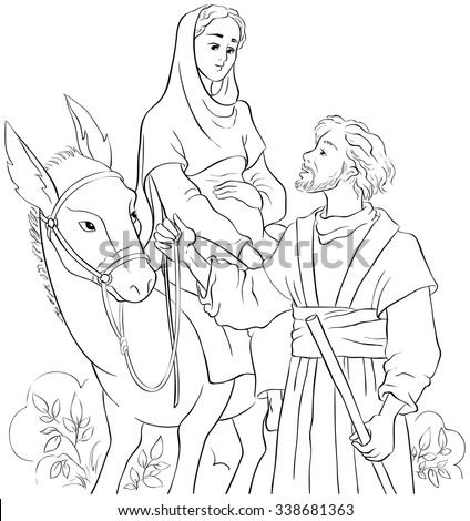 mary and joseph travelling by