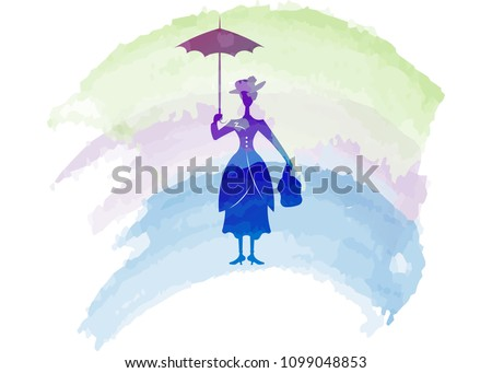 mary poppins style silhouette