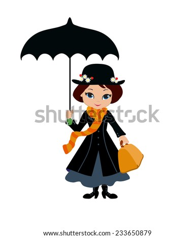 mary poppins with umbrella