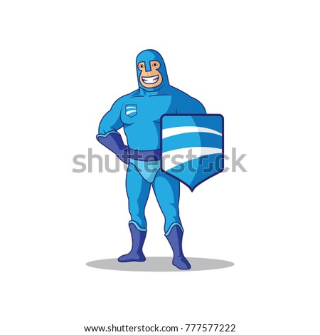 mascot for protection vector
