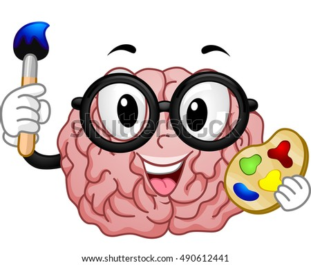 mascot illustration of a nerdy