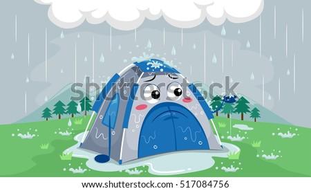 mascot illustration of a sad