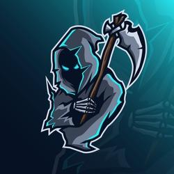 mascot logo design grim reaper concept