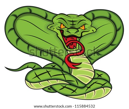 mascot of angry snake vector
