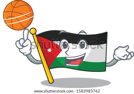 mascot of flag jordan cartoon