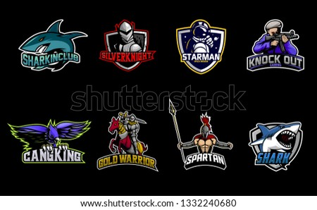 Mascots logo collection. Esport logo Collection