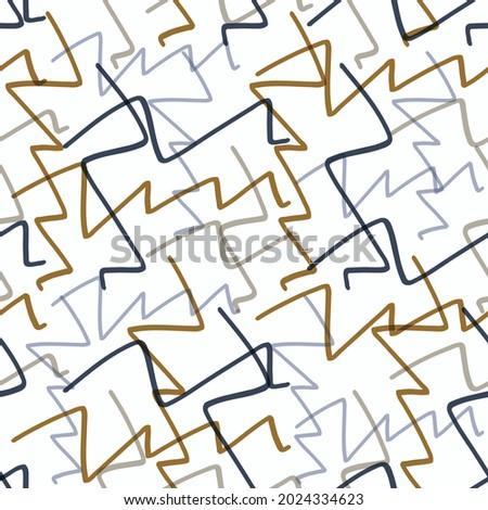 Masculine geometric seamless pattern. Classic retro geo shape for digital scrapbook paper and repeatable men gift wrap design in vector. Foto d'archivio ©