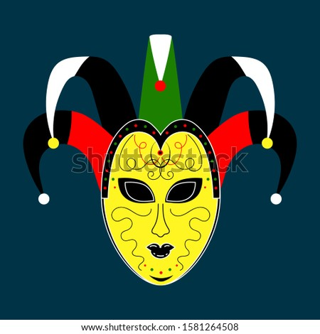 Mask carnival celebration. Colorful design. Vector design element. Venice, italy. Happy carnival. Carnival party. Carnival mask.