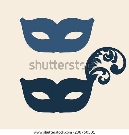 Carnival Silhouette Vector Mask Carnival Silhouette
