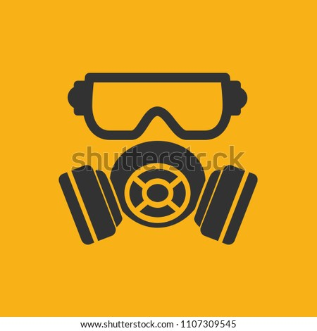 Mask industry vector icon