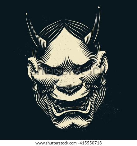 mask of hannya demon mask