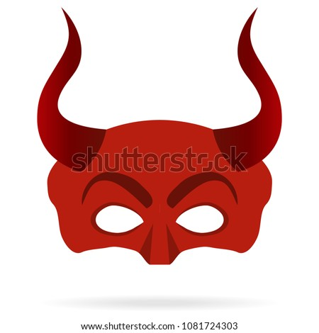 mask of the devil with horns