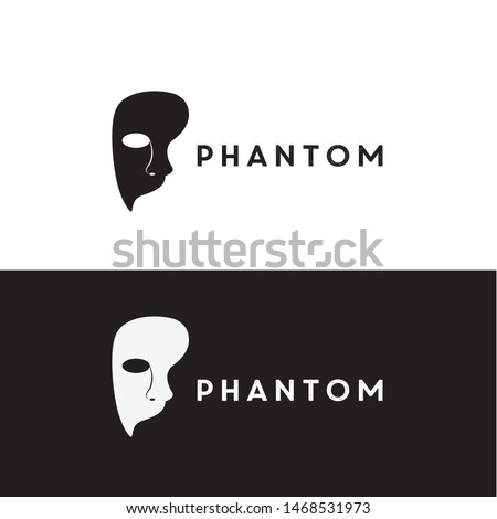 mask phantom logo design vector icon illustration inspiration