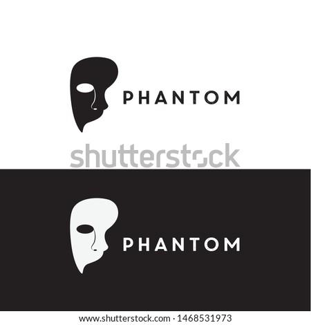 mask phantom logo design vector icon illustration inspiration